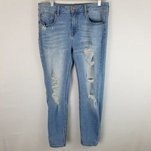 Vigoss Marley Skinny Distressed Midrise Jeans